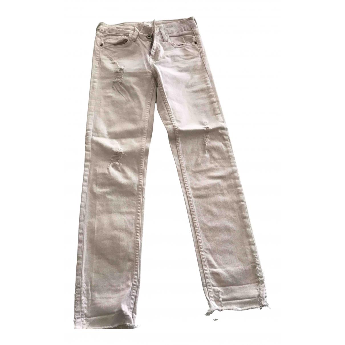 Zara N White Denim - Jeans Trousers for Women 34 FR