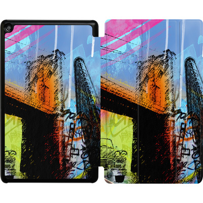 Amazon Fire HD 8 (2018) Tablet Smart Case - Pop Brooklyn Bridge von Mark Ashkenazi