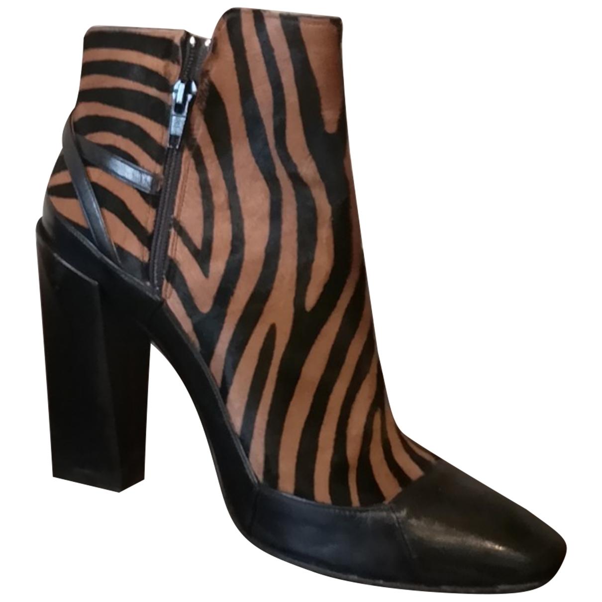 Gianni Marra - Boots   pour femme en veau facon poulain - multicolore