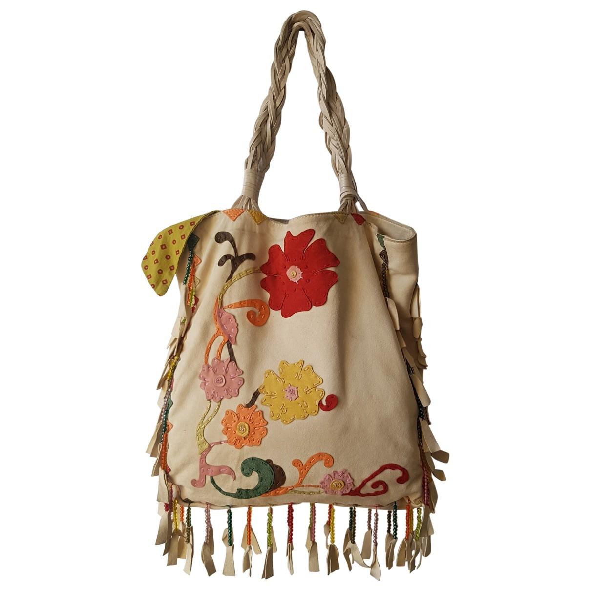Orciani \N Handtasche in  Beige Veloursleder