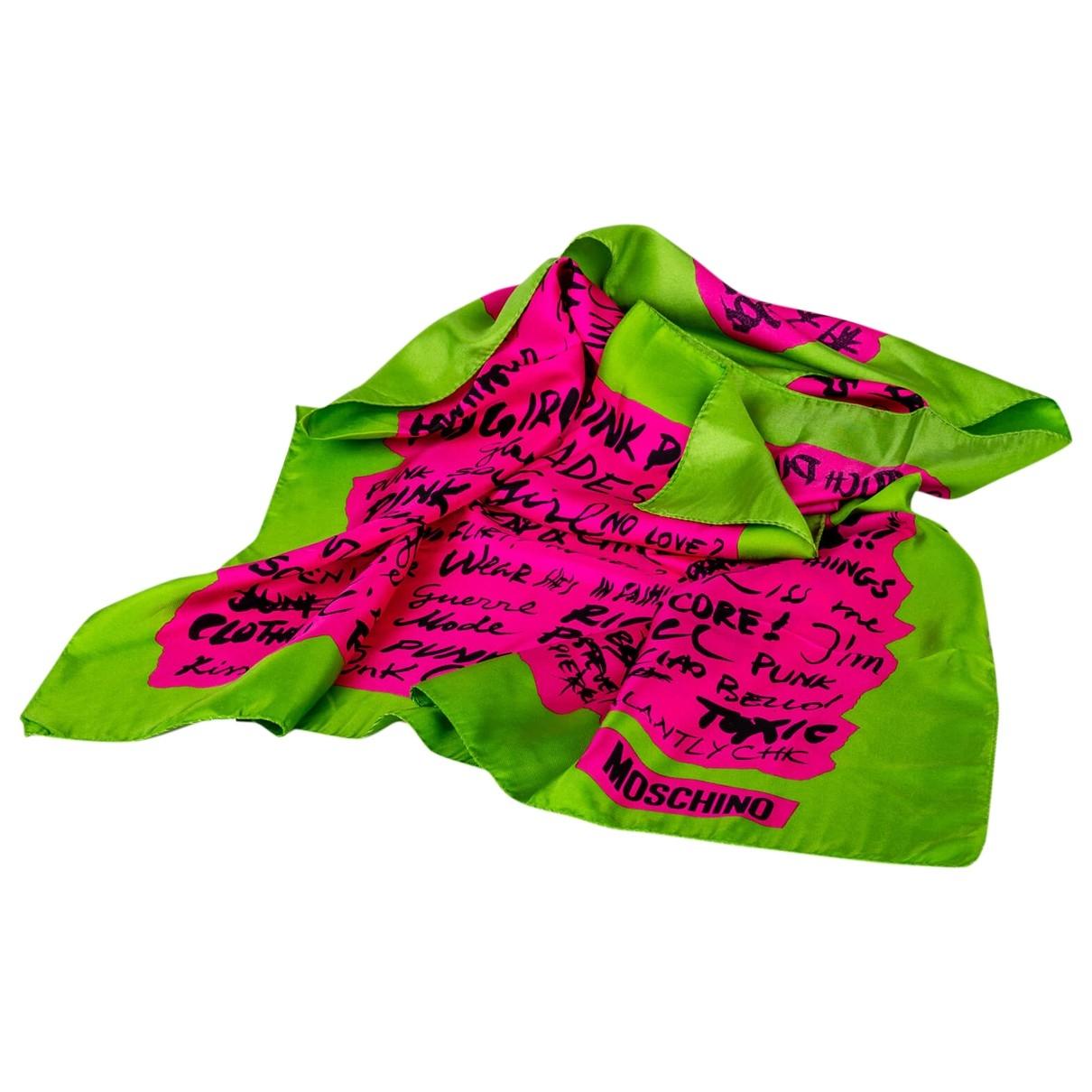 Moschino \N Multicolour Silk Silk handkerchief for Women \N
