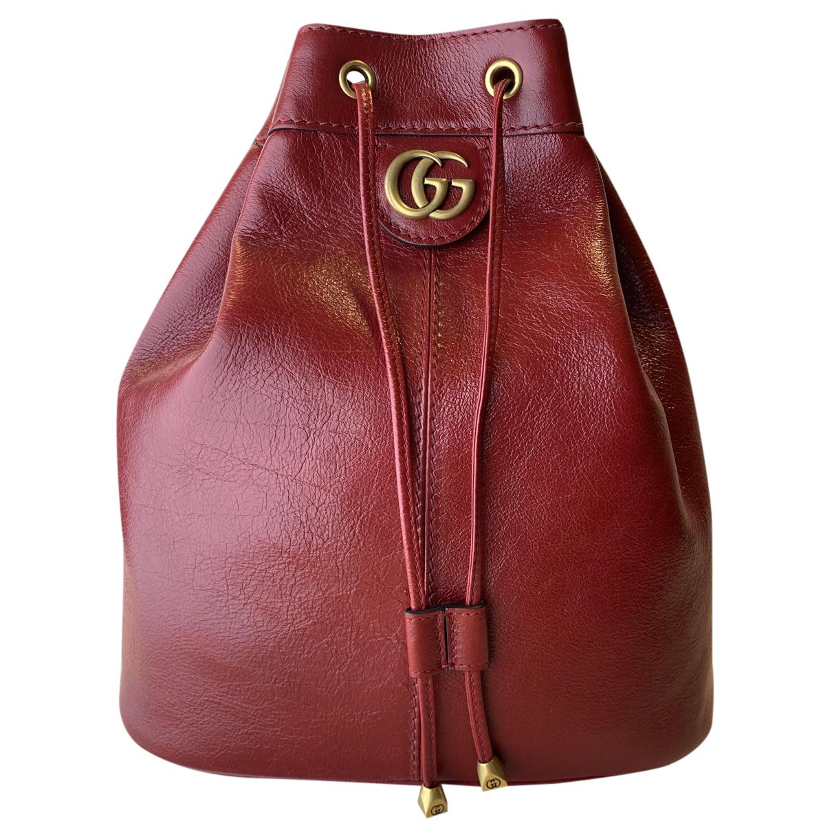 Gucci \N Rucksaecke in  Rot Leder