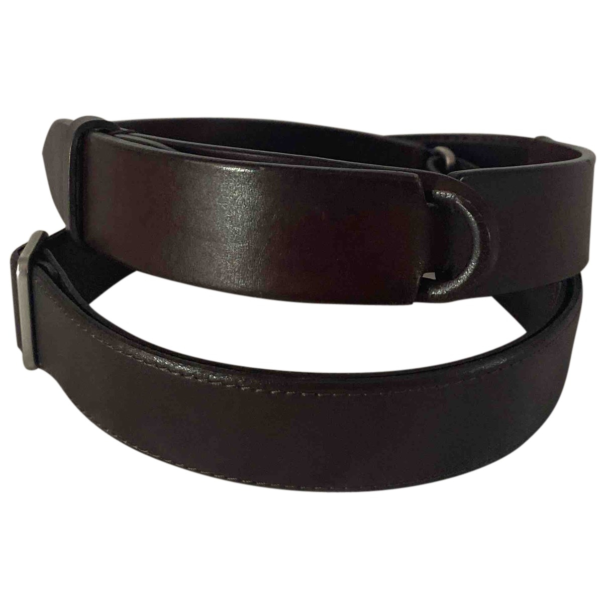Orciani N Brown Leather belt for Women M International