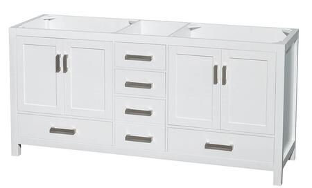 WCS141472DWHCXSXXMXX 72 in. Double Bathroom Vanity in White  No Countertop  No Sinks  and No