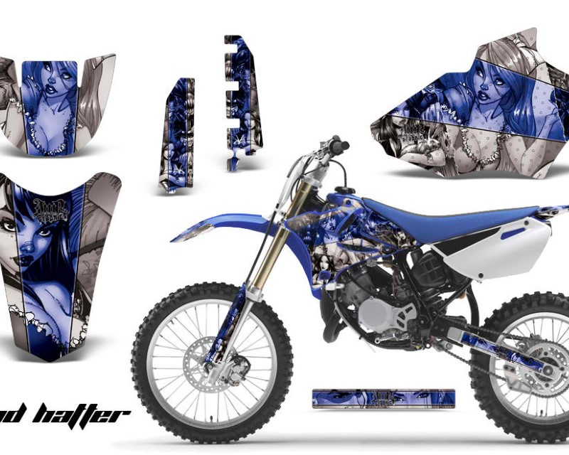 AMR Racing Dirt Bike Decal Graphics Kit MX Sticker Wrap For Yamaha YZ85 2002-2014áHATTER BLUE SILVER