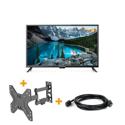 3 en 1 Téléviseur HD DEL 720p de 32 po avec Câble HDMI & Supports TV Mural - PrimeCables®