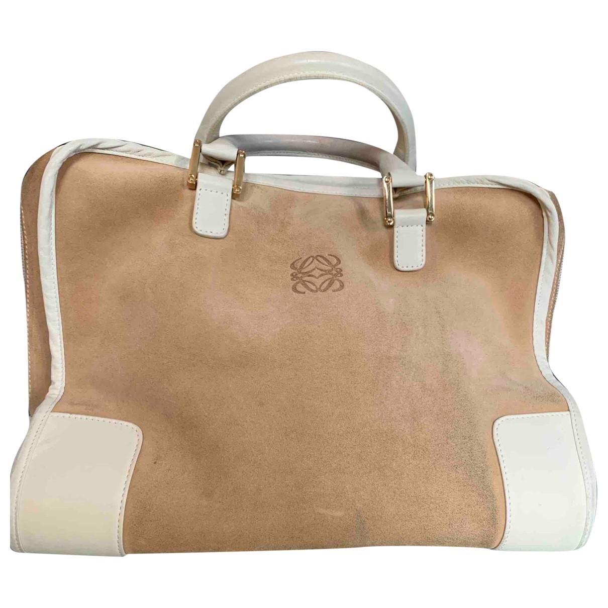 Loewe Amazona Beige Suede handbag for Women \N