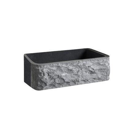 FSGSB4012-GPBL Birgitta24 Granite Single Bowl Farmer Sink Chiseled Frnt