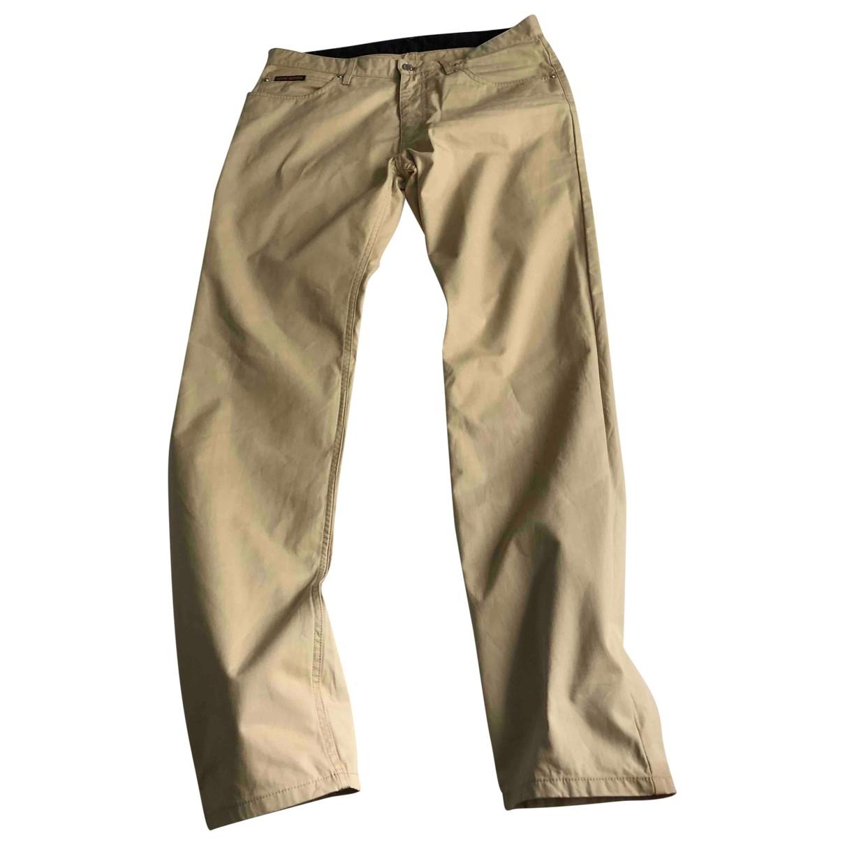 Louis Vuitton \N Beige Cotton Jeans for Men 44 FR