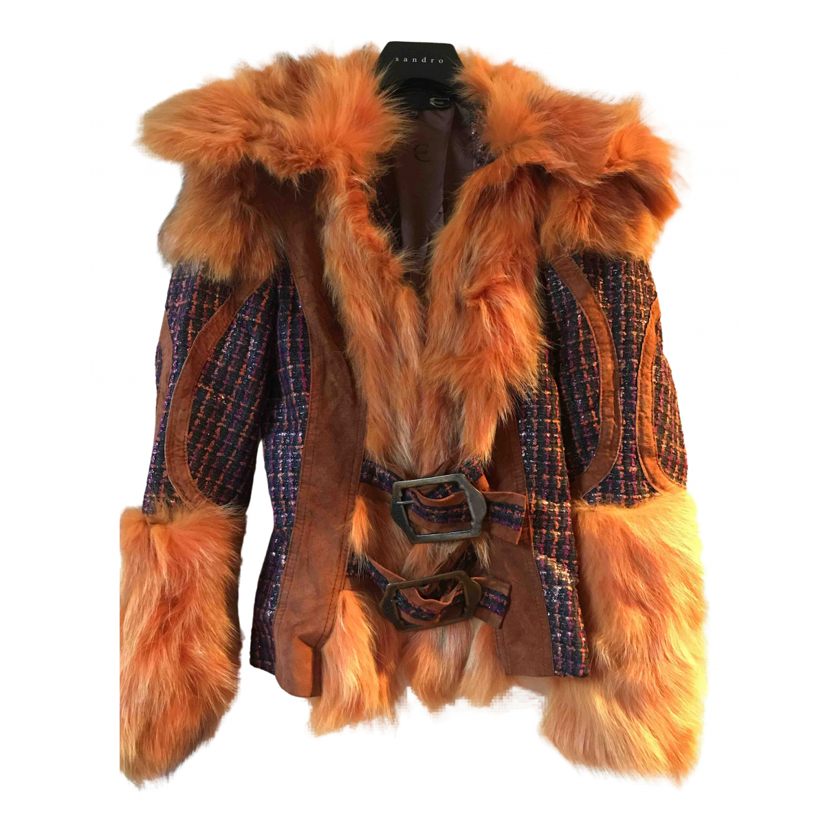 Just Cavalli \N Jacke in  Orange Polyester