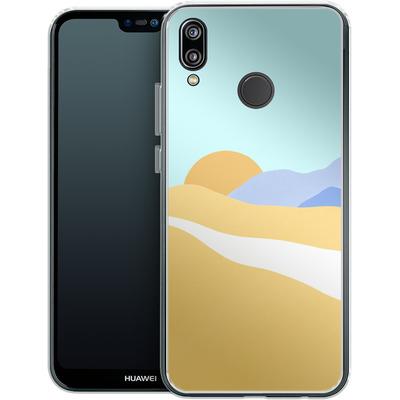 Huawei P20 Lite Silikon Handyhuelle - Sunset Beach von Lucy Bohr