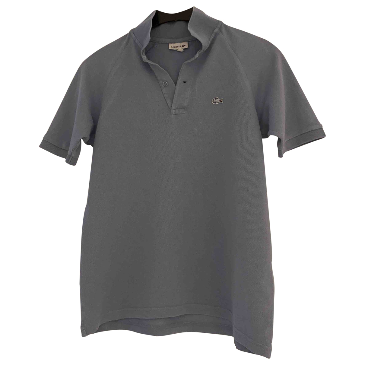Camisetas en Algodon Gris Lacoste