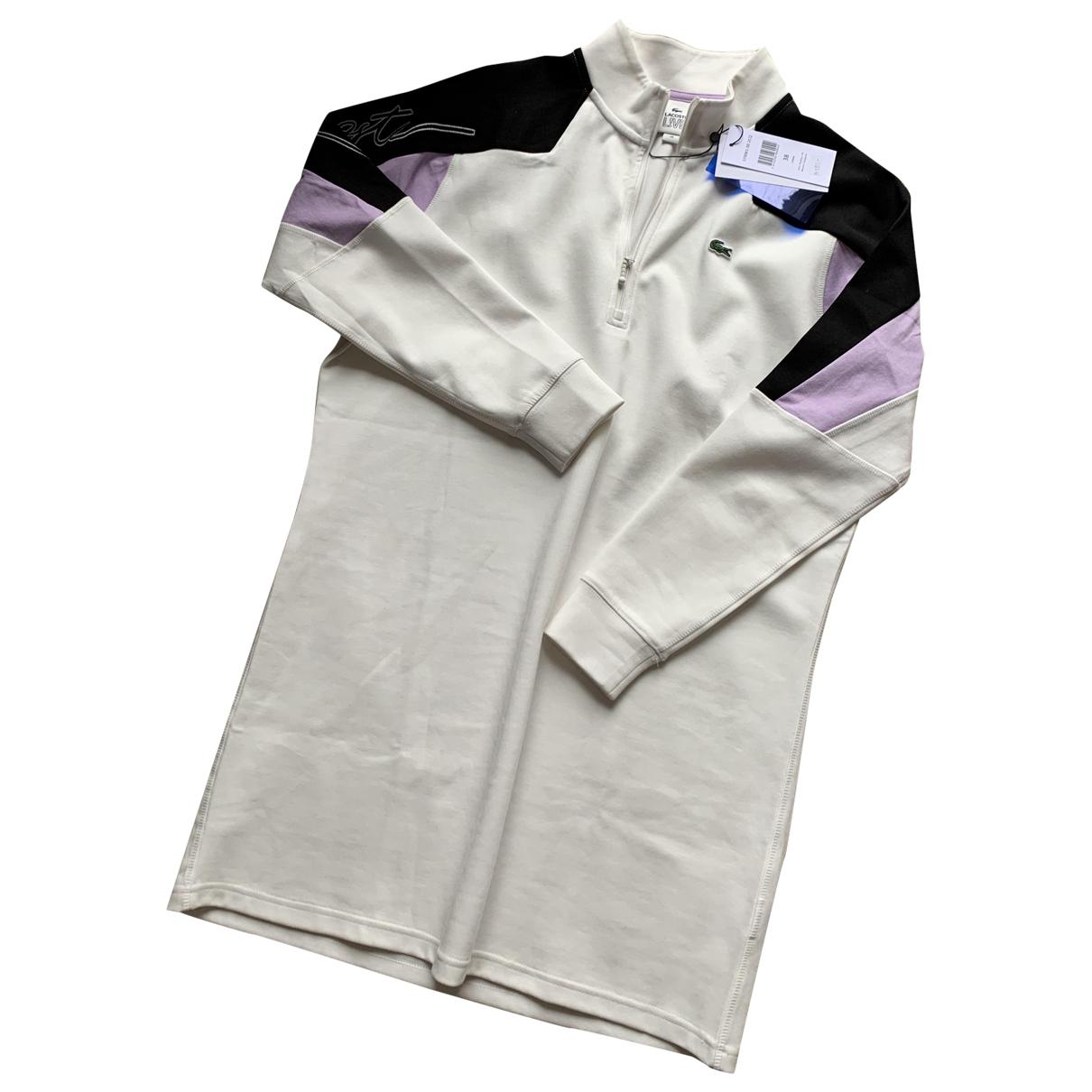 Lacoste \N Kleid in  Weiss Baumwolle