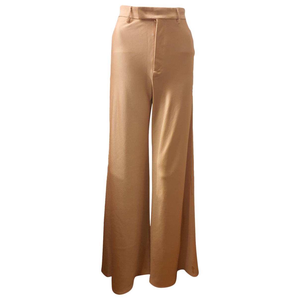 Etro \N Ecru Silk Trousers for Women 32 FR