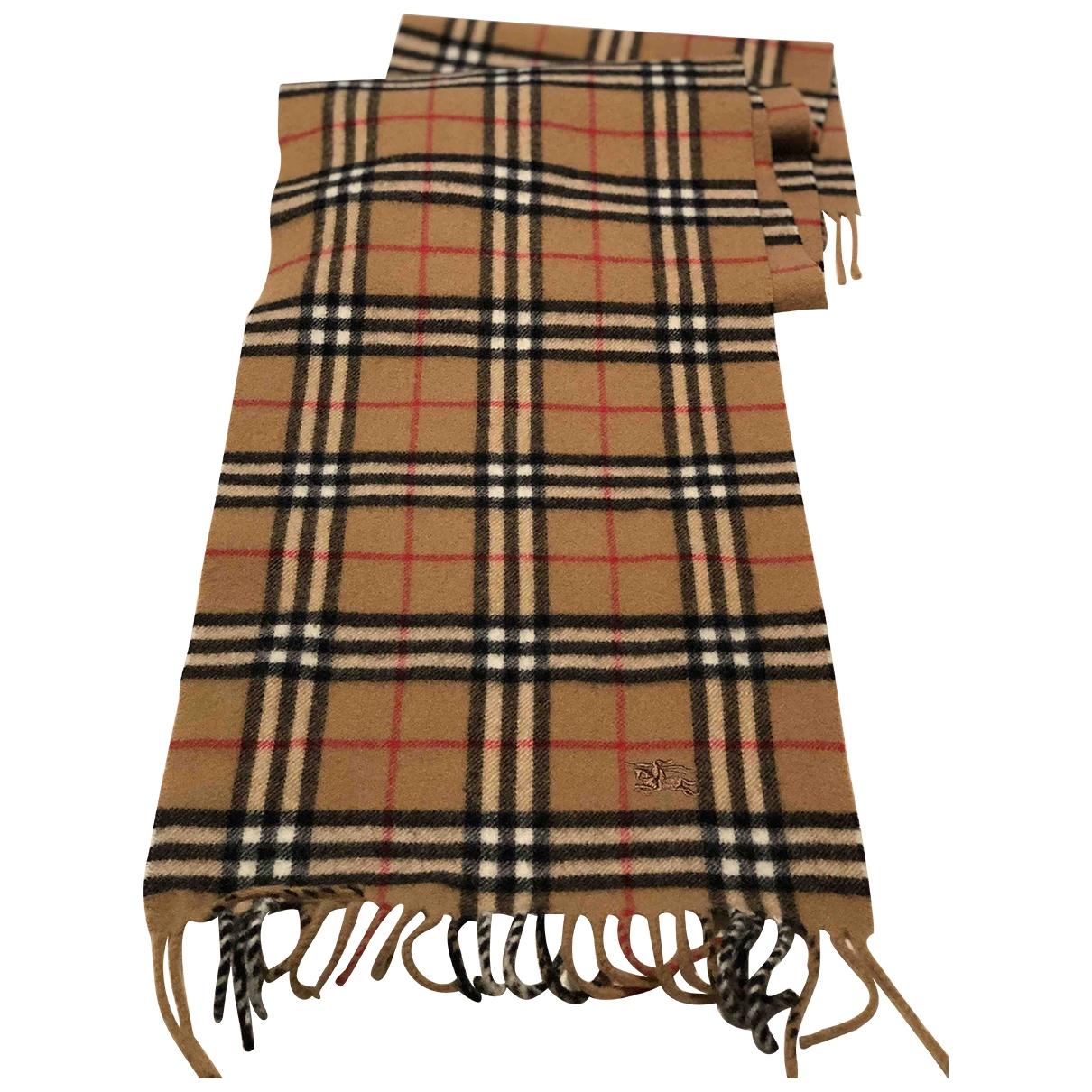 Burberry - Cheches.Echarpes   pour homme en laine - marron