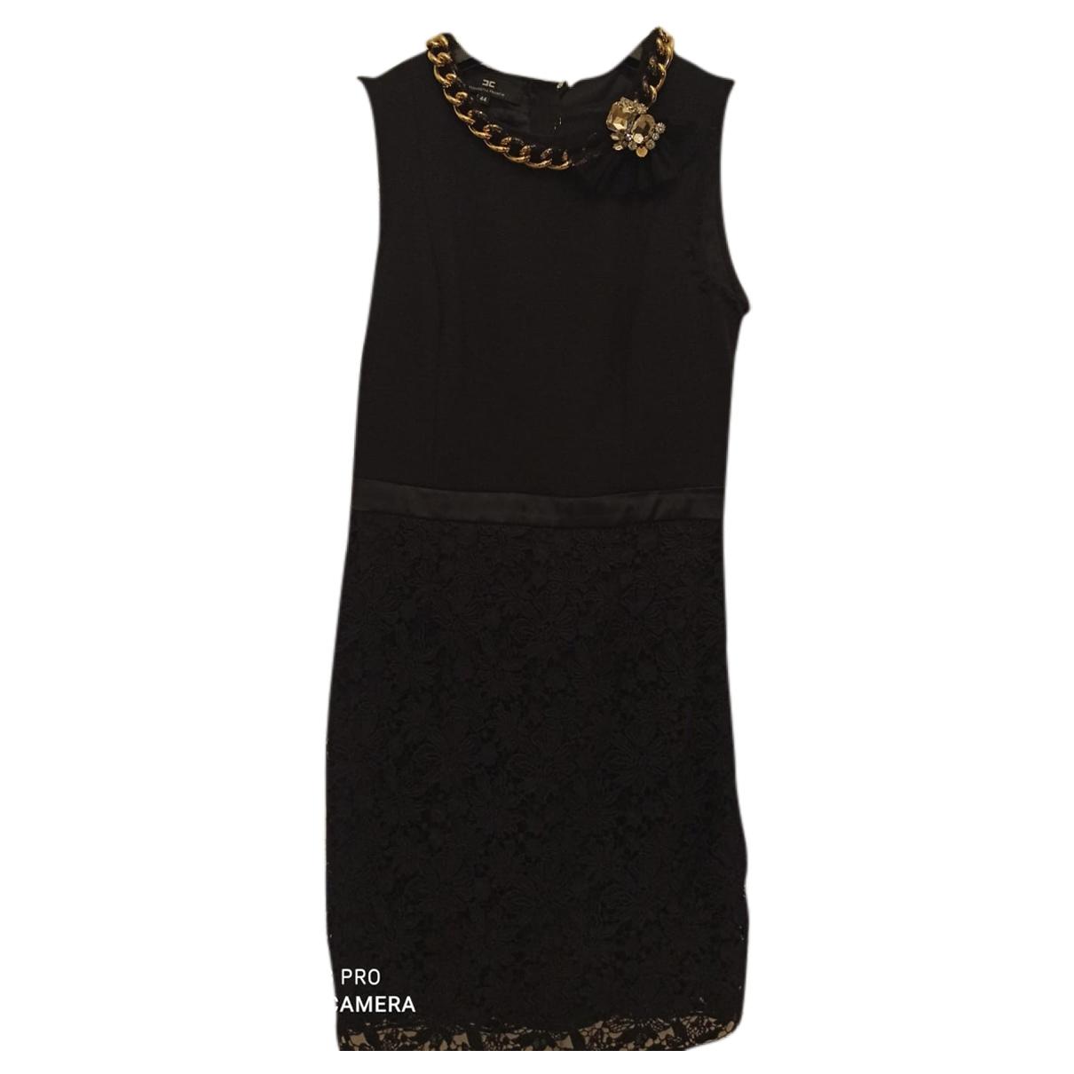 Elisabetta Franchi \N Black Lace dress for Women 44 IT
