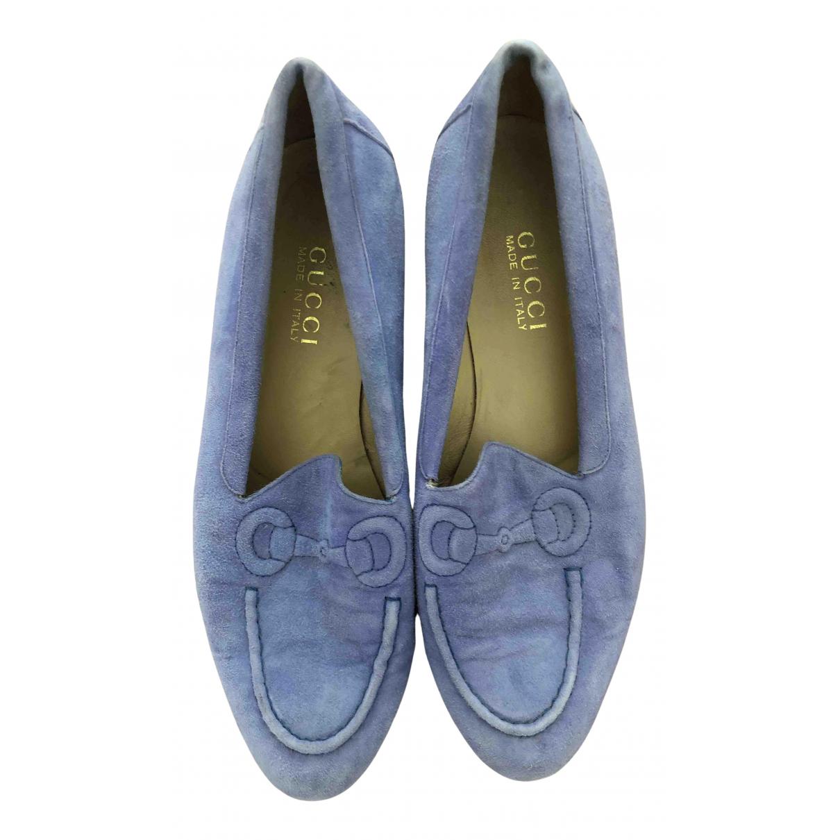 Gucci \N Purple Suede Flats for Women 39.5 EU