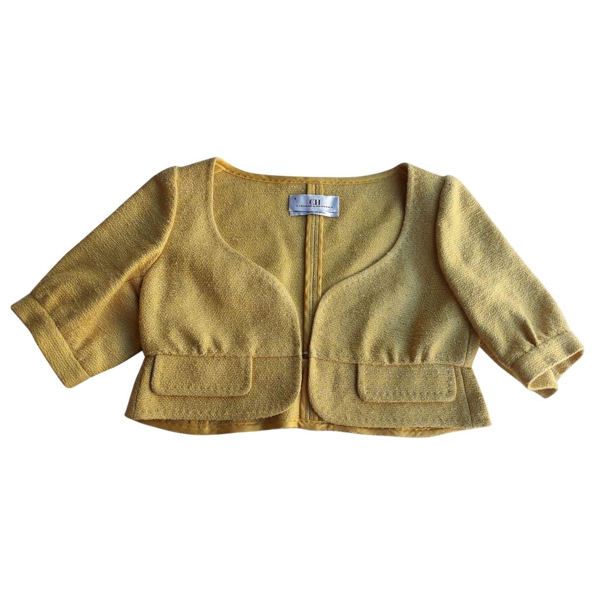 Carolina Herrera - Veste   pour femme en coton - jaune