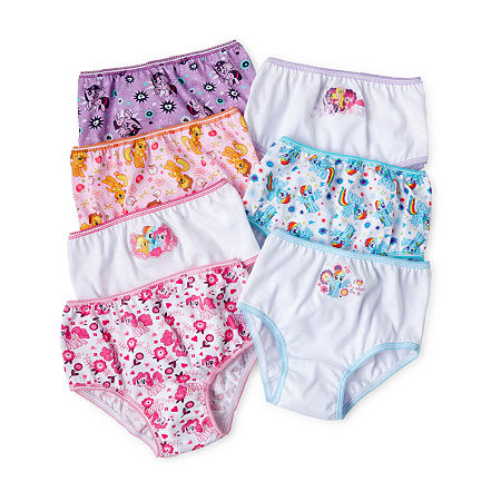 Little Girls 7 Pack My Little Pony Brief Panty, 4 , No Color Family