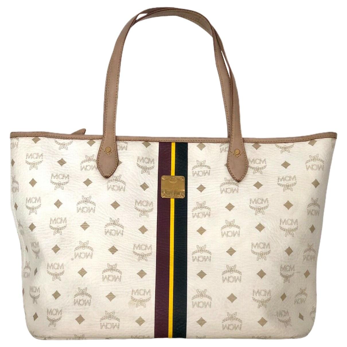 Mcm \N White Cloth handbag for Women \N