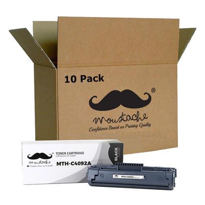 Compatible HP 92A C4092A Black Toner Cartridge - Moustache@ - 10/Pack