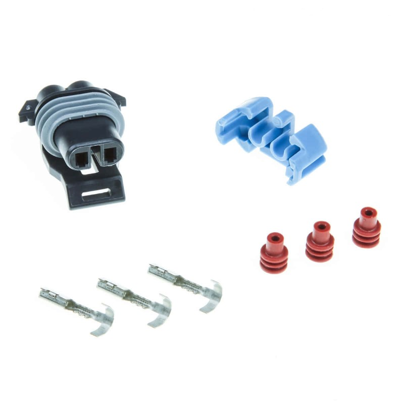GM Boost Control Solenoid Connector with Crimp-On Pins DIYAutoTune GMBoostConn