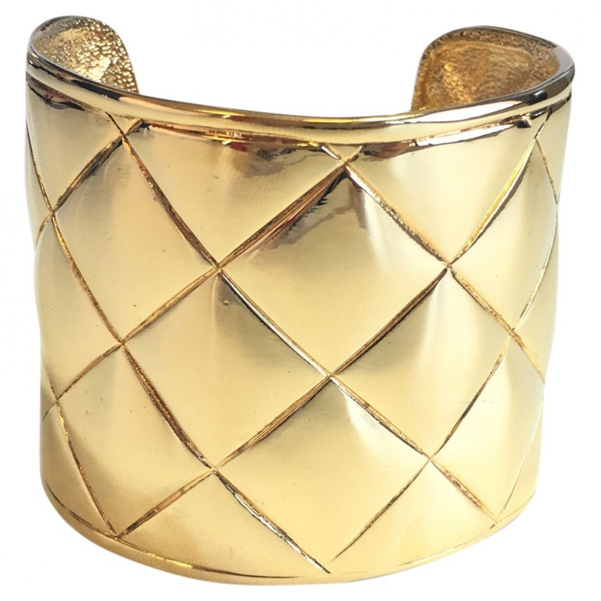 Chanel Matelasse Armband in  Gold Metall