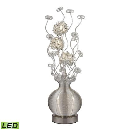 D2717 7W LED Contemporary Floral Display Floor Lamp  In Silver