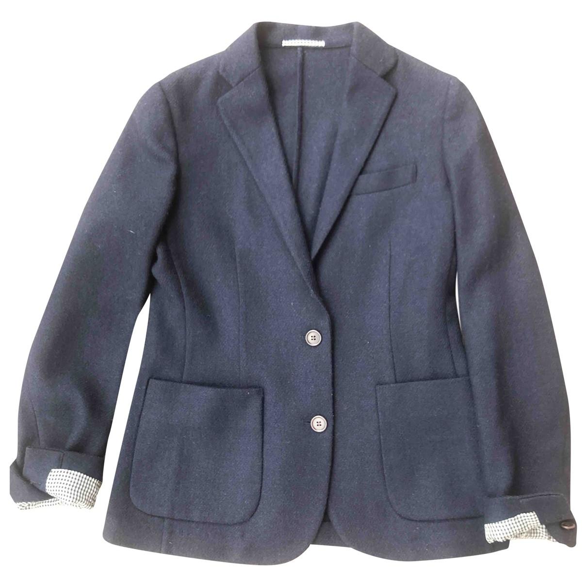 Uniqlo - Veste   pour femme en laine - bleu