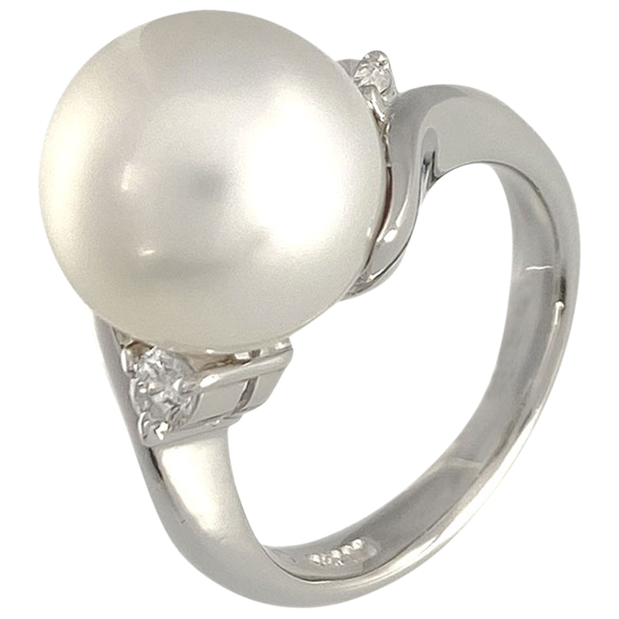 Non Signé / Unsigned N White Platinum ring for Women 48 EU