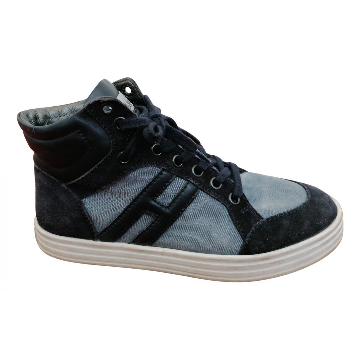 Hogan \N Sneakers in  Blau Leder