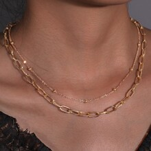 2pcs Chunky Chain Necklace