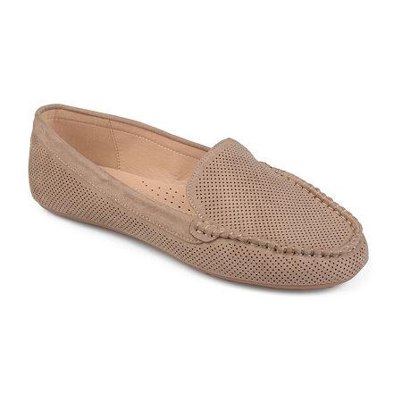 Journee Collection Womens Halsey Loafers, 11 Medium, Beige