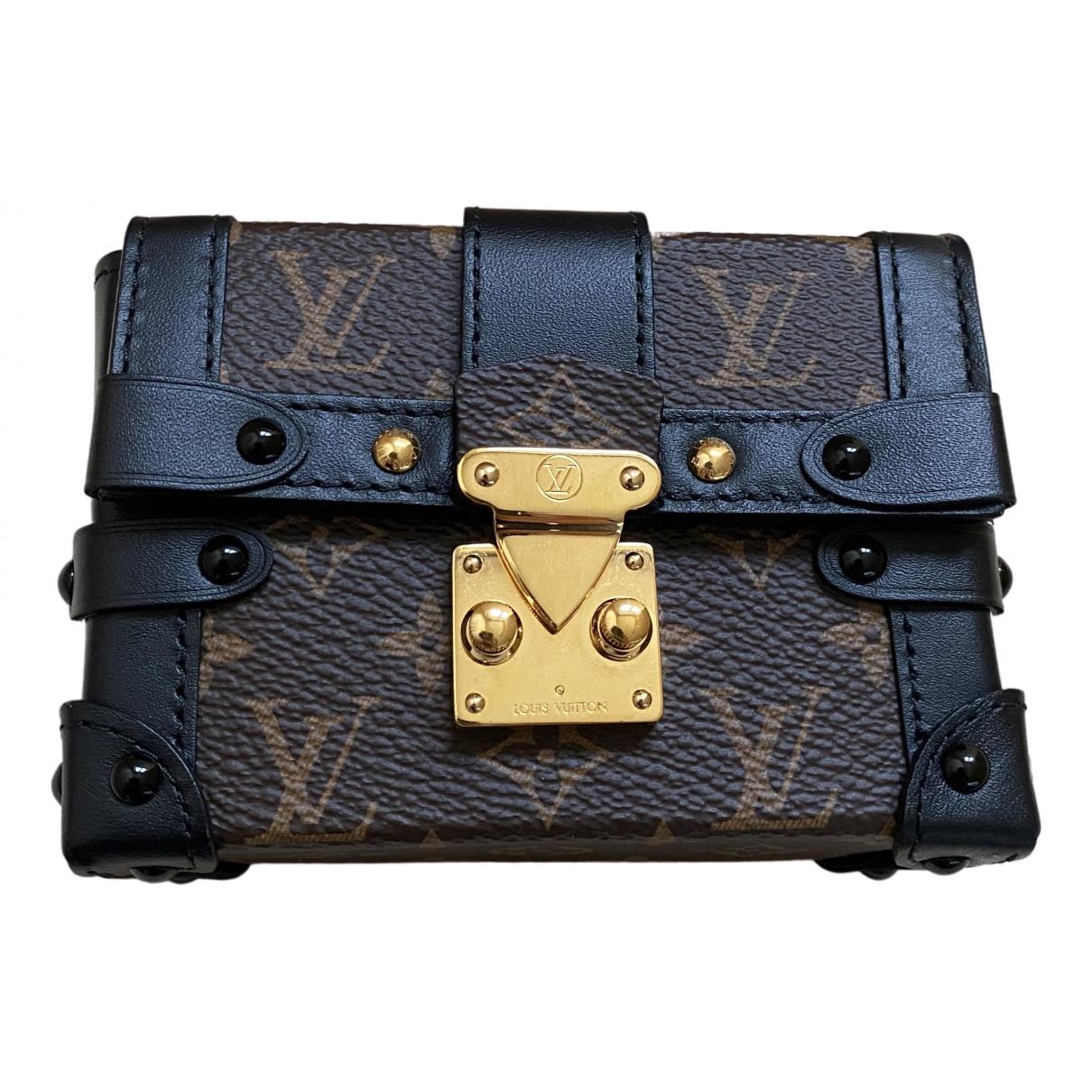 Louis Vuitton Petit Malle Handtasche in  Braun Leinen