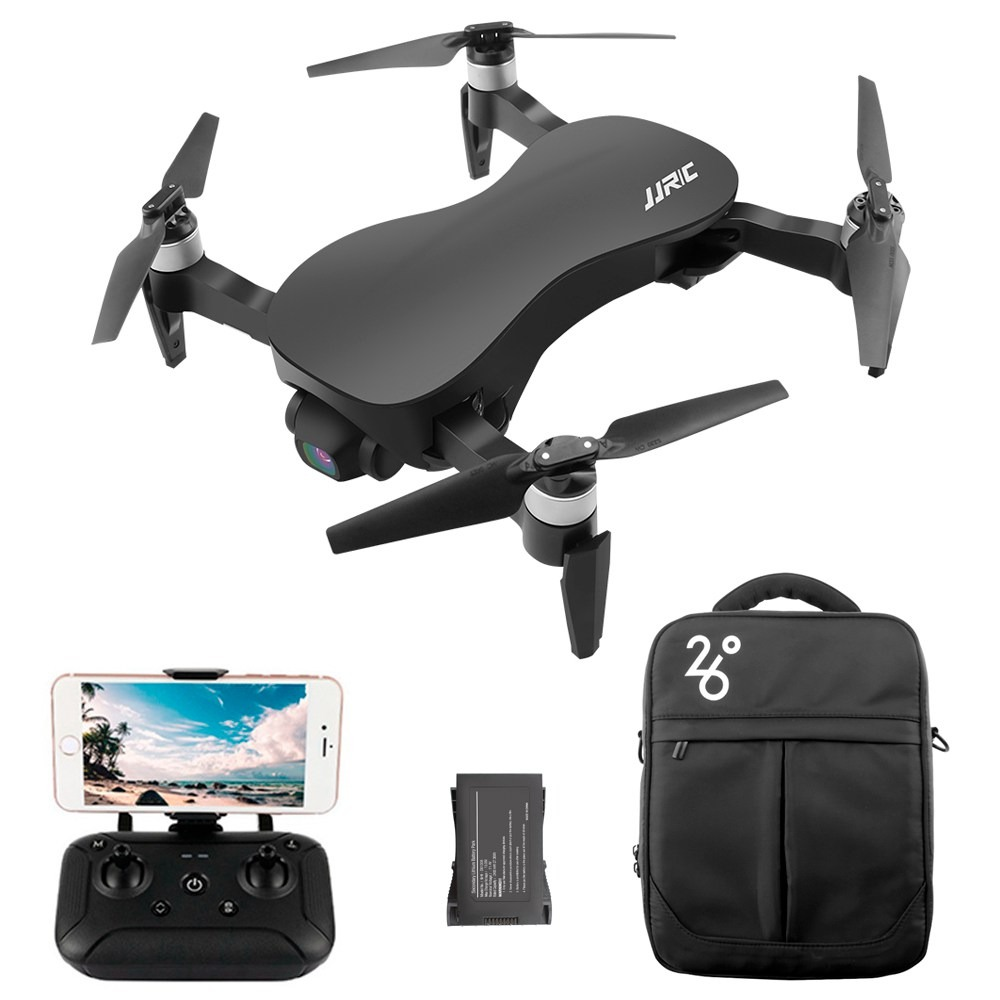 JJRC X12 4K GPS RC Drone Black Two Batteries with Bag
