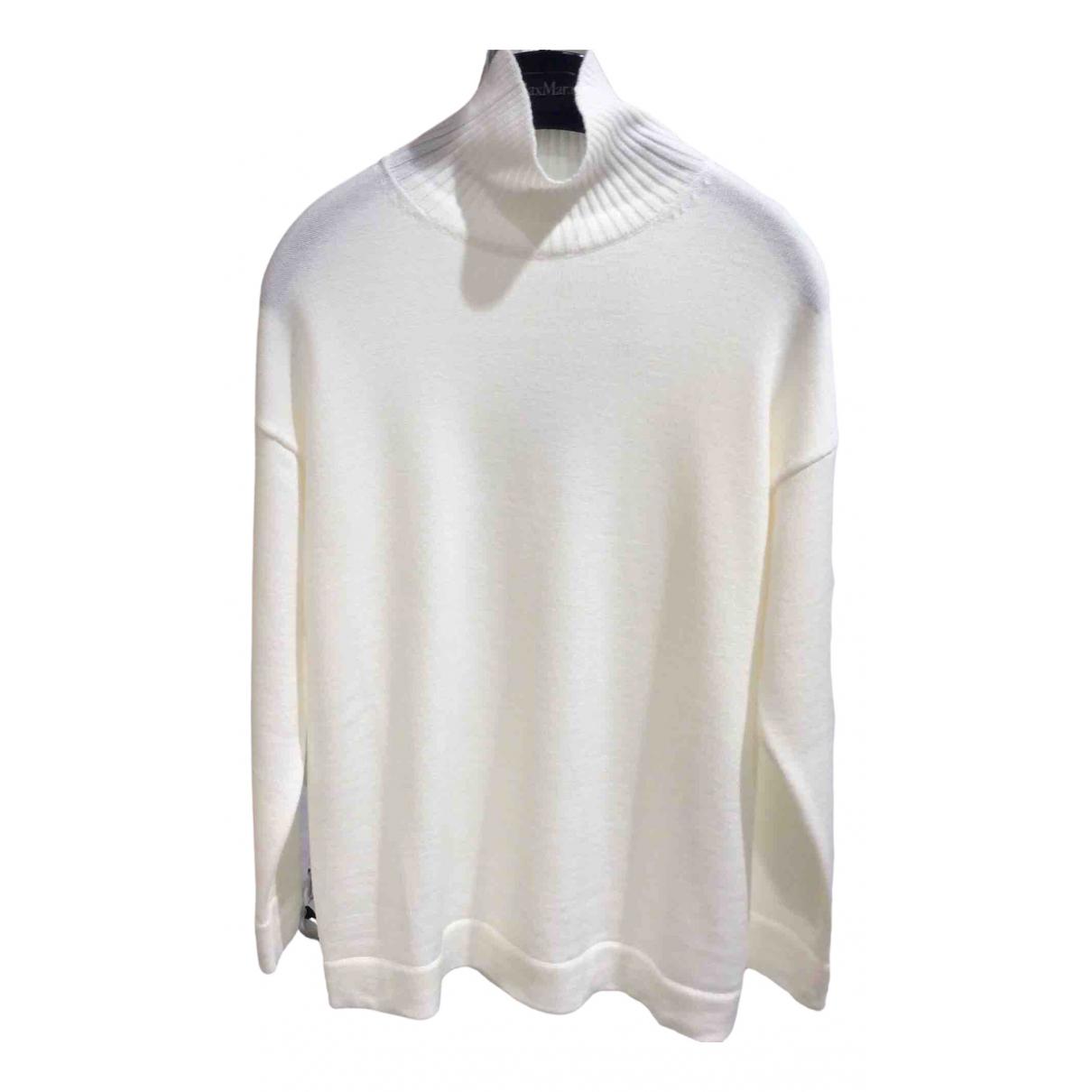 Max Mara - Pull   pour femme en laine - blanc