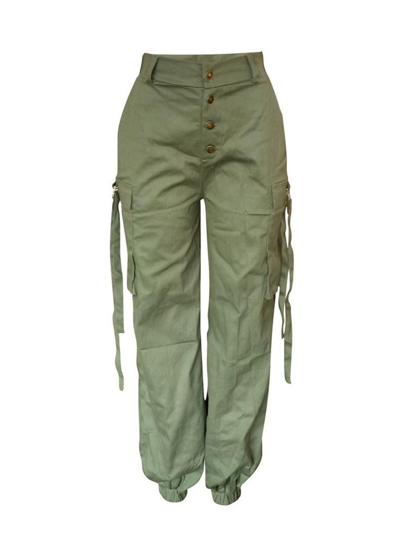 Ericdress Big Pocket Button Loose Women's Women's Pants
