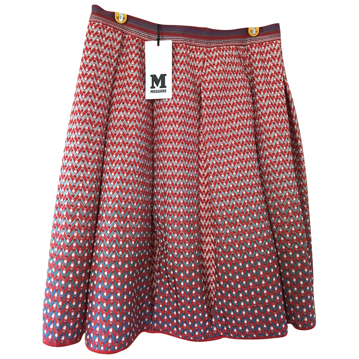 M Missoni \N Red Cotton skirt for Women 42 IT