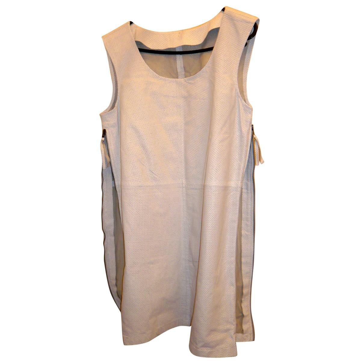 Zara \N Kleid in  Weiss Leder