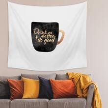Coffee Cup Print Tapestry