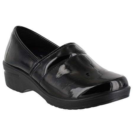Easy Works By Easy Street Womens Lyndee Clogs, 11 Extra Wide, Black