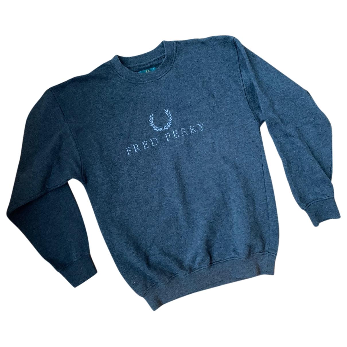 Fred Perry \N Pullover.Westen.Sweatshirts  in  Grau Baumwolle
