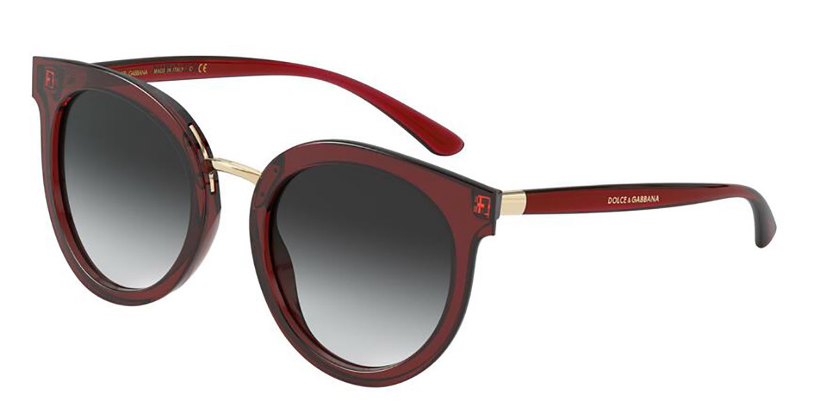Dolce & Gabbana DG4371F Asian Fit 550/8G Women's Sunglasses Red Size 52