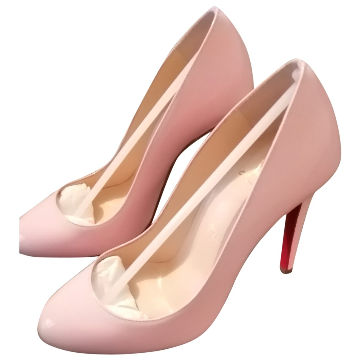 Christian Louboutin Simple pump Pink Patent leather Heels for Women 35 EU