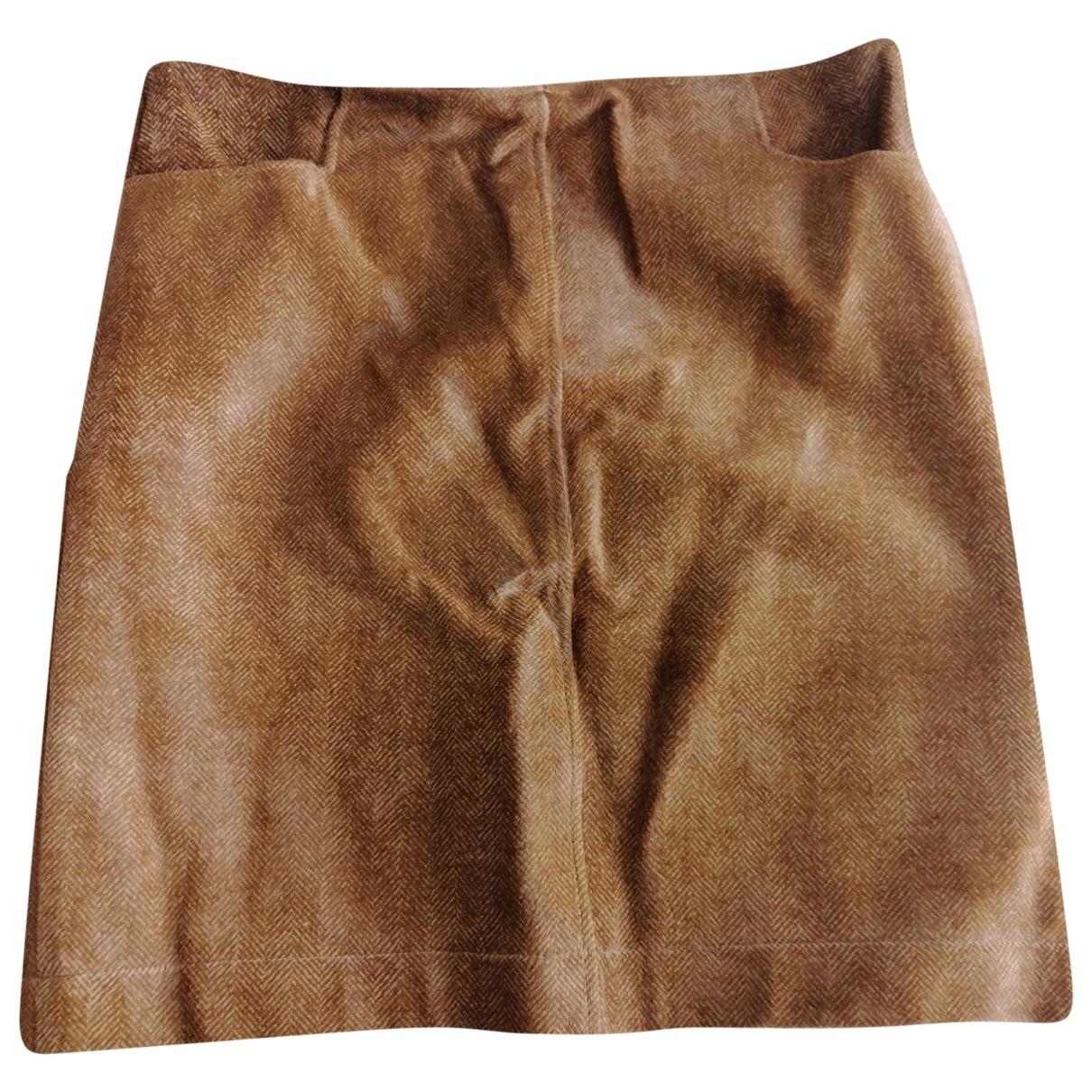 Ralph Lauren \N Brown Pony-style calfskin skirt for Women 8 US
