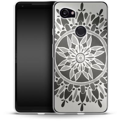 Google Pixel 2 XL Silikon Handyhuelle - Mandala Black von Cat Coquillette