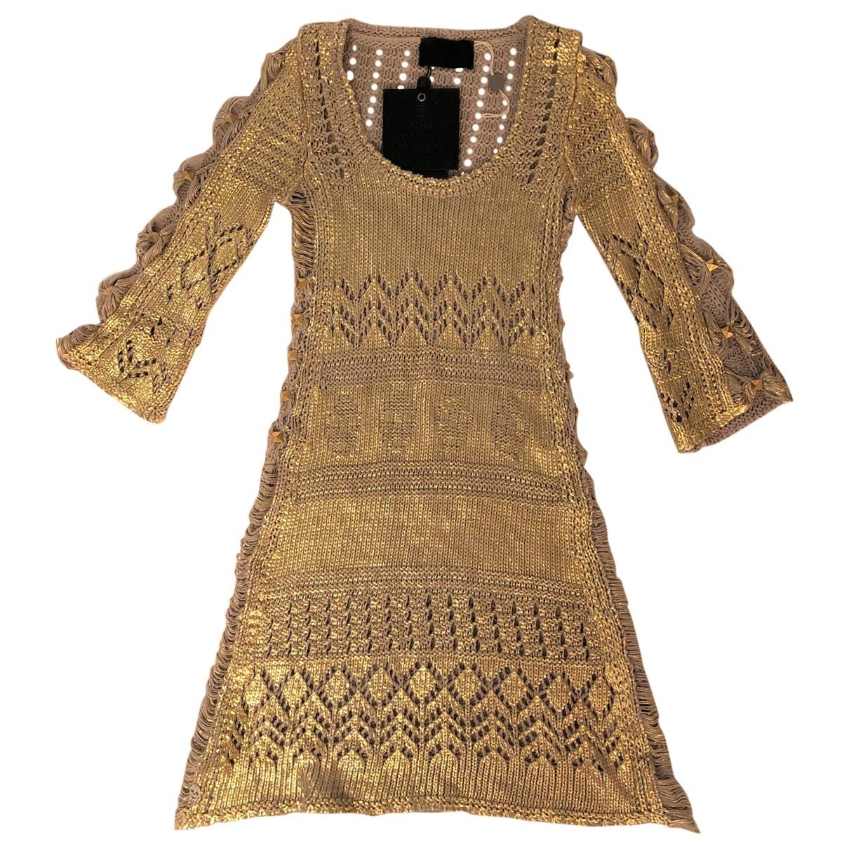 Philipp Plein - Robe   pour femme en coton - dore