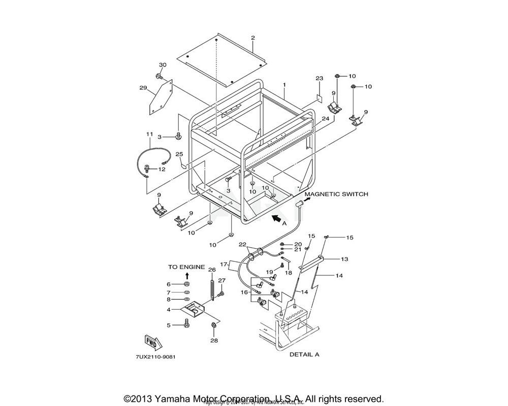 Yamaha OEM YA0-56600-01-70 CLAMP | (7UX2)