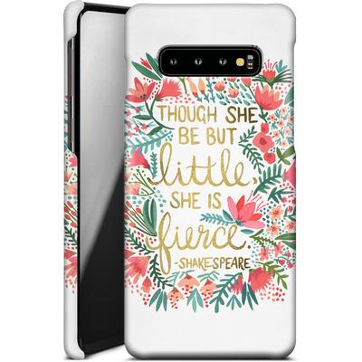 Samsung Galaxy S10 Plus Smartphone Huelle - Little But Fierce White von Cat Coquillette