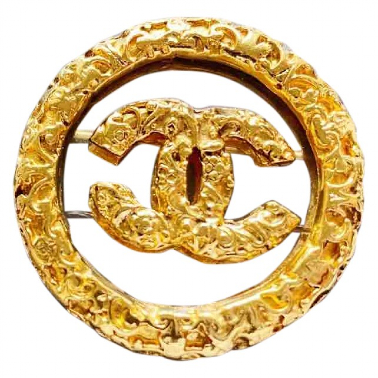Broche CC en Metal Chanel